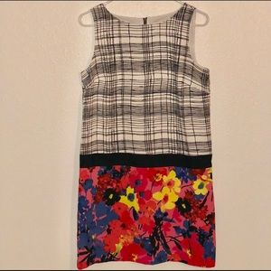 LOFT- Multi Pattern Shift Dress